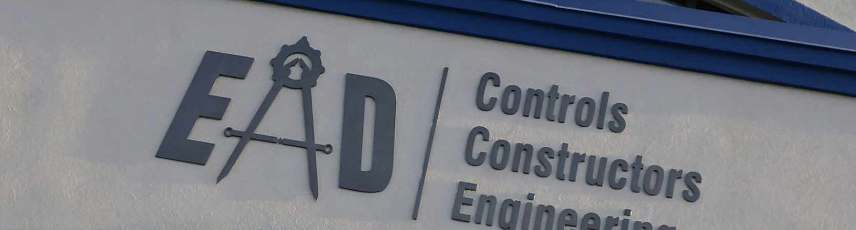 Engineering, Automation, Design logo and front office sign